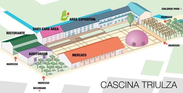 mappa di Cascina Triulza: dove trovarci